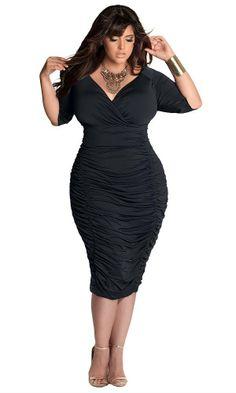 fe7dae732c2 IGIGI by Yuliya Raquel Plus Size Ambrosia Dress in Black  Amazon.com   Clothing