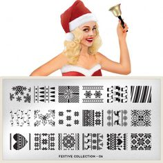 Moyou London festive. Collection N06 moyou.co.uk | info@moyoumarketing.com #moyoulondon #nailart #pinup #stamp #stamping #manicure #pinup #london #Xmas #Festive #navidad