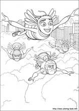 Bee Movie coloring pages on Coloring-Book.info