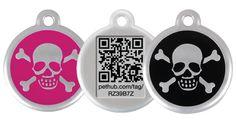 Platinum Edition RedDingo QR Tag - Skull Design $6.50