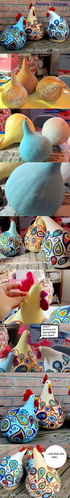 手工 三个干葫芦,一坨软陶制作出三只可爱的 P…