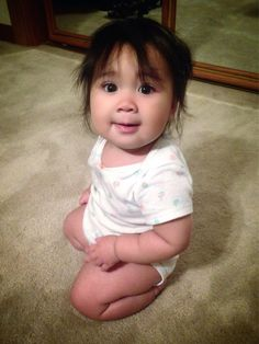 Cute chinese baby girl naked