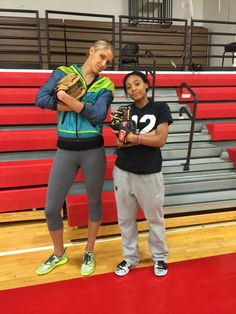 Elena Delle Donne -- Getting my baseball swag to a whole new level. So great hanging with this young superstar. Awesome person! #whatyaknowaboutafourseam @monedavis11 -- Sqor Sports 20150408