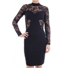 Rochie midi neagra cu maneci dantela si spate gol Formal Dresses, Casual, Shopping, Fashion, Dresses For Formal, Moda, Fashion Styles, Fasion, Gowns