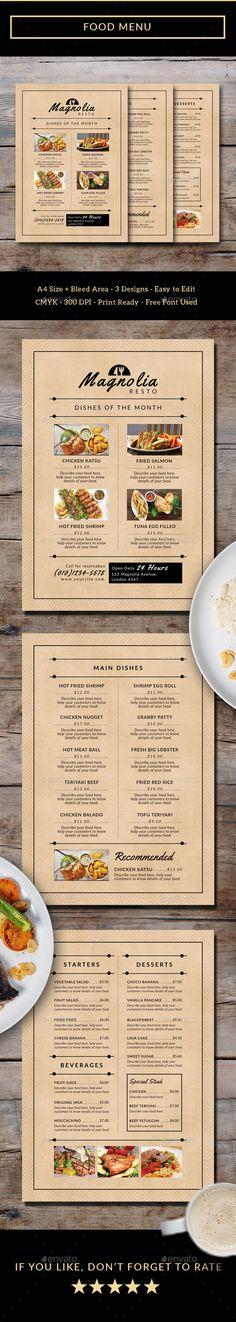 Food Menu - Food Menus Print Templates Download here : https://graphicriver.net/item/food-menu/19267884?s_rank=79&ref=Al-fatih