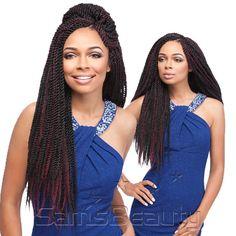 "Sensationnel Synthetic Hair Braids African Collection Kanekalon Senegal Twist 40"""