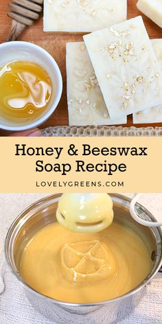 How to make Honey & Beeswax Soap + Deepening the color using honey How to make honey and beeswax soap using all natural ingredients. Includes tips on creating both a light colored and warm brown tinted batch of soap Diy Savon, Savon Soap, Soap Making Recipes, Homemade Soap Recipes, Beeswax Recipes, Diy Beauté, Diy Crafts, Honey Soap, Honey Recipes