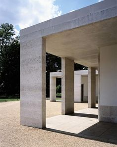 Chiswick House Garden by Caruso St. John. The recall of the classic colonnade is amazing