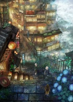 Love this place. Looks like Jiufen, Taiwan - A  Real-World Inspiration for Studio Ghibli's animation, Spirited Away