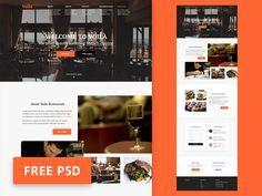 ⬇ Free download: Restaurant Website Template PSD