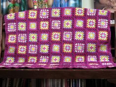 Magenta Divine Crochet Granny Square Traditional by Thesunroomuk