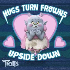 Turn your frown upside down with a HUG! #DreamworksTrolls #BringHomeHappy #Hug #Family