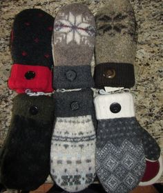 mittens from sweaters...