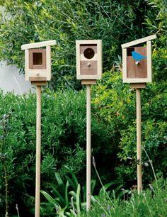 DIY birdhouse Wooden building blocks?