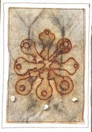 Image result for rust dyed textile