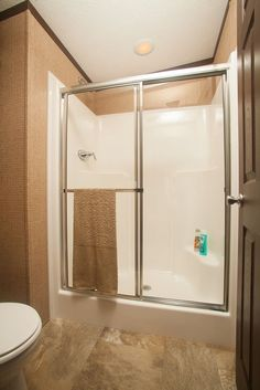 Colony Homes - A3209A  - Eastland Ranch - Master Bathroom Fiberglass shower in a separate space!