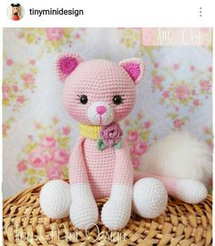 Amigurumi Pink Cat - Amigurumi Pink Cat - Projects to try - . : Amigurumi Pink Cat – Amigurumi Pink Cat – Projects to try – Chat Crochet, Crochet Mignon, Crochet Dolls, Crochet Baby, Crochet Cat Pattern, Crochet Patterns, Amigurumi Patterns, Amigurumi Doll, Amigurumi Tutorial