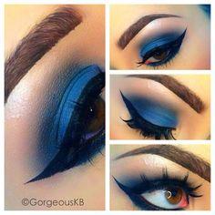 dark blue eyeshadow.