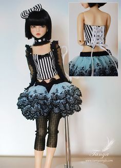 OOAK Special Outfits No.2 for Narae/Unoa cute steampunk looking outfit for bjd, great inspiration