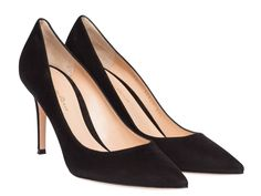 Gianvito Rossi heels pumps in black suede leather - Italian Boutique €317
