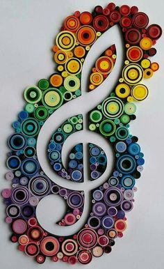 Quilled Music #Quilling #Quillingflowers #Papercraft #Woodcraft #Quilling #* #Music #Quilled #Quilling