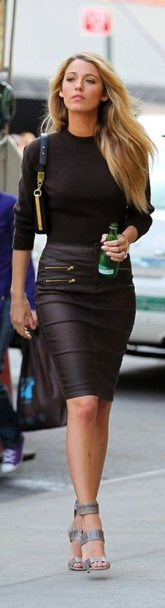 I have never owned a leather skirt.  Wonder what would it feel like to wear one all day?