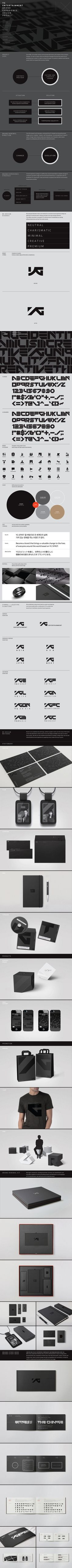 YG ENTERTAINMENT Brand Identity Renewal by Plus X , via Behance