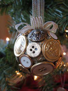 Button Ornaments! 25 DIY Christmas Ornament Ideas | DeMilked