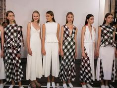 Life's A Picnic  ...And in soft gingham dresses and loose blanket trousers, how could it not be? Victoria Beckham, Celine and Stella McCartney are all ordering us to check up before the season ahead, reinventing fashion's favourite patterns in easy, breezy new silhouettes.   (Image: Victoria Beckham spring 2016 fashion show)