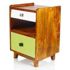 solid wood cool drawers side table bed Ned Wood Bedside Cabinet | Him | Oliver Bonas