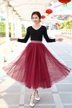 2015 Spring and summer new faldas korean style 8 m big swing maxi skirts womens autumn winter high waist tutu long tulle skirt