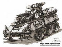 ArtStation - armored vehicle, CAPTOON (Lee InSu)