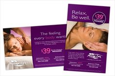 massage envy advertising leaflets flyers
