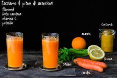 6 estratti a colori per una sana alimentazione ricette e proprietà Smoothie Drinks, Smoothies, Raw Food Recipes, Healthy Recipes, Frappe, The Cure, Food And Drink, Cocktails, Vegan