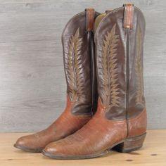Tony Lama Vintage All Leather Cowboy Boots Size 9 D