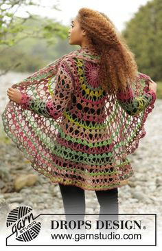 Crochet Circle Jacket Size S-XXXL
