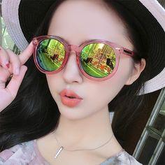 eb084df08c6e8 IVE Fashion Multicolour Mirror Glasses Sunglasses Women Vintage Sunglasses  Women Brand Designer Sun Glasses feminino 9156