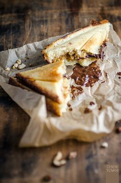 Quick Chocolate and Caramel Jaffles | Chew Town Food Blog