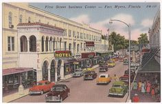 Vintage Fort Myers Florida FL First Street