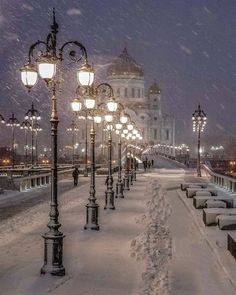 Winter in Moscow, Russia Photography by: elena. Winter Love, Winter Night, Winter Snow, Beautiful World, Beautiful Places, Nature Architecture, Winter Magic, Winter Scenery, Snow Scenes