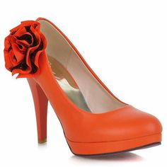 Lace Flower Prom High Heels