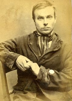 George Bell    For stealing a watch, George Bell was sentenced to 2 months in Newcastle City Gaol in 1873.    Age (on discharge): 24  Height: 5.4½  Hair: Brown  Eyes: Grey  Place of Birth: Hexham  Status: Single  Occupation: Striker    These photographs are of convicted criminals in Newcastle between 1871 - 1873.    Reference:TWAS: PR.NC/6/1/1137  Tyne & Wear Archives & Museums