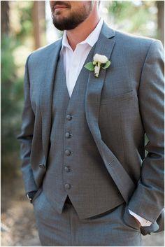 Groom in Grey Suit | Jenna Joseph Photography | Megan Dileen Events