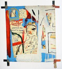 Basquiat   Three Quarters of Olympia Minus, 1982 via Brooklyn Museum catalogue, 2005