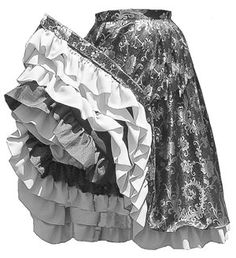 TV280 - 1840 - 1890's Can-Can Skirt Pattern