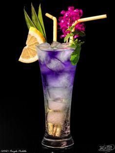 Purple puddle - Curacao blue  Vodka Black Sun  Sprite  Ice     Put ice into a glass, pour Sprite