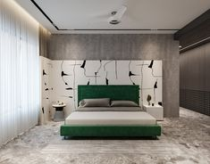 Architecture,Interior Design,Visual Effects Luxury Bedroom Design, Bedroom Bed Design, Luxury Home Decor, Home Decor Bedroom, Home Interior Design, Blue Master Bedroom, Small Apartment Design, Luxurious Bedrooms, Modern Bedrooms