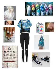 """""""Artist"""" by laceshorts ❤ liked on Polyvore featuring HVBAO, Topshop, WithChic and Oliver Gal Artist Co."""