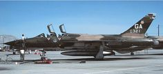 USAF Republic F-105F-1-RE Thunderchief ( Converted to F-105G Wild Weasel III ) 561st TFS, 35th TFW at George AFB, California. 1978