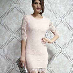 Cool! Unique Light  Pink Slim Lace Dress Party Dress  just $30.99 from ByGoods.com! I can't wait to get it!